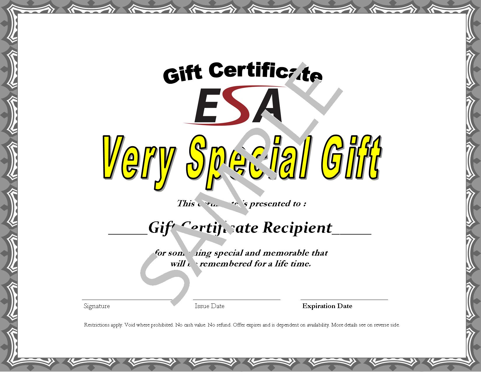 Buy ESA Gift Cards now